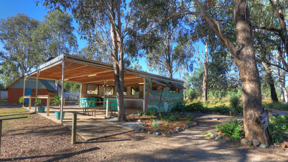 Kilkivan Bush Camping offer great facilities like this outdoor shared kitchen