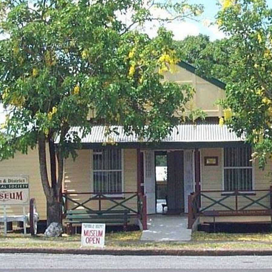 Kilkivan Museum with trees out front