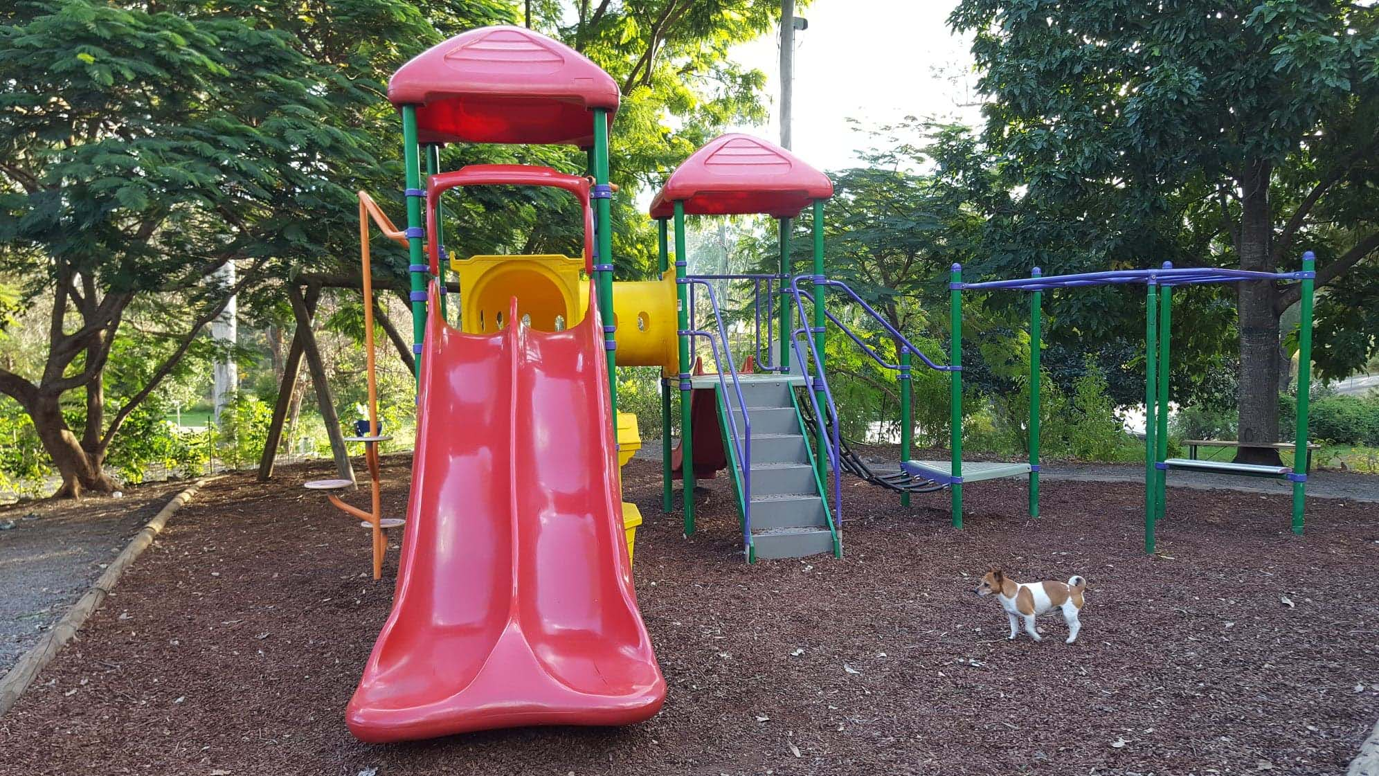Kilkivan Bush Camping's playground is great fun for the kids