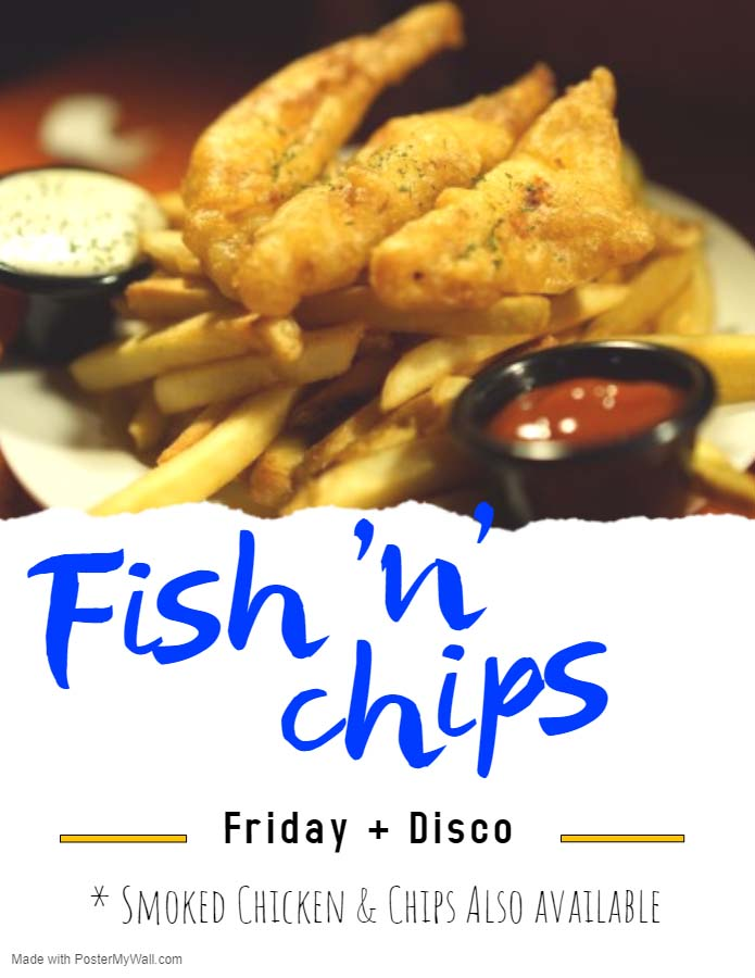 Fish n Chips at the Friday Disco flyer